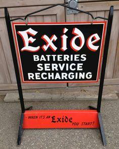 Original Exide Batteries Sidewalk Display