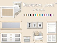 Jane bedroom by Cäcilia at Akisima • Sims 4 Updates