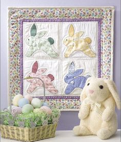 Vintage Bunnies Wall Quilt - Quilting Digest