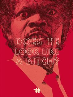 Oh, what rocking graphics from Cleveland-based creative Oliver Barrett. These works juxtapose illustrations of film characters from Quentin Tarantino's and Coen Brothers' flicks against the rather classic movie lines they've uttered onscreen. Our favorite is the Pulp Fiction one with an impossibly irate Samuel L. Jackson going 'Does he look like a bitch?'