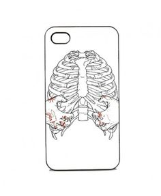 Contrast Iphone Case with Skeleton Print