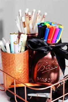 DIY Pinterest Desk Decor & Organization Tips + Giveaway