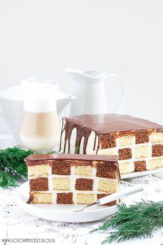 Checkerboard cake - the recipe Best Dessert Recipes, Fun Desserts, Cake Recipes, Poke Cakes, Lava Cakes, Checkered Cake, Slab Cake, Checkerboard Cake, Gingerbread Cake