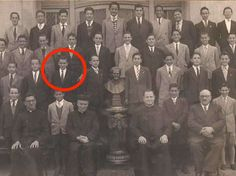Pope Francis — back when he was still Jorge Mario Bergoglio — as a student, circa 1948-49.
