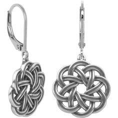 Sterling Silver Celtic Wreath Drop Earrings ($40) ❤ liked on Polyvore featuring jewelry, earrings, sterling silver celtic jewelry, celtic jewelry, sterling silver earrings, drop earrings and sterling silver jewelry