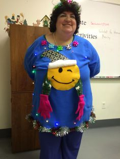 Maria's diy ugly emotion Christmas sweater