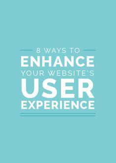 8 Ways to Enhance Your Website's User Experience http://www.elleandcompanydesign.com/blog/8-ways-to-enhance-user-experience?utm_content=buffere36c0&utm_medium=social&utm_source=pinterest.com&utm_campaign=buffer