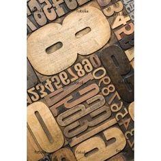 wood type 'Numbers' wall decal on amazon