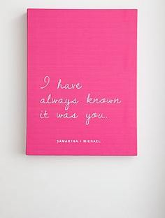 """Wall art """"I have always known it was you"""" by @RedEnvelope #Valentines"""