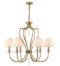 Hey Look What I found at Lighting New York  Lucas and McKearn EL/PM6AB Pimlico 6 Light 26 inch Aged Brass Chandelier Ceiling Light, Elstead #LightingNewYork