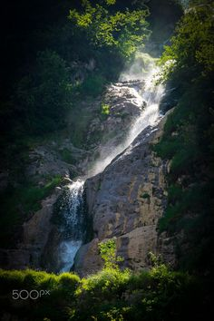 Horses' waterfall, Romania by Luiza Popa Waterfalls, Romania, Horses, River, Explore, Outdoor, Outdoors, Outdoor Games, The Great Outdoors