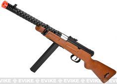 Snow Wolf Real Wood M1938 WW2 Model / Modello 38A Airsoft AEG Sub-Machine Gun