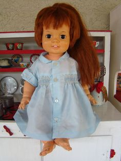 Baby Chrissy Doll. Mine had a pink dress.