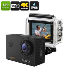 MGCOOL Explorer Pro Action Camera - Interpolated 4K, IP68, Sony IMX179 Image Sensor, 170-Degree Lens, 1050mAh, App Control, 16MP - The MGCOOL Explorer Pro Sports Action Camera features a Sony IMX170 Image Sensor that produces breathtaking footage at any time.