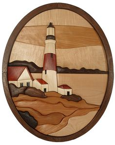 Intarsia Lighthouse | Intarsia Pattern and piece designed an… | Flickr