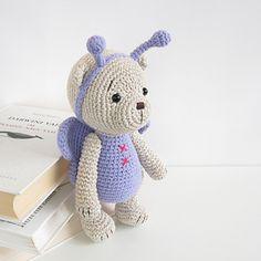 teddy bear in a butterfly