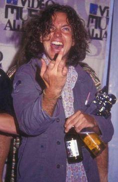 Eddie, expresses himself.
