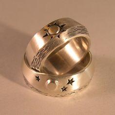 Sun Moon Wedding Rings