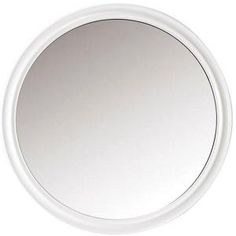 Home Decorators Collection Hudson 32 in. x 32 in. Round Framed Wall Mirror in White-1663710410 at The Home Depot