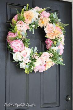 Rachel Elizabeth Creates: DIY Floral Wreath Tutorial