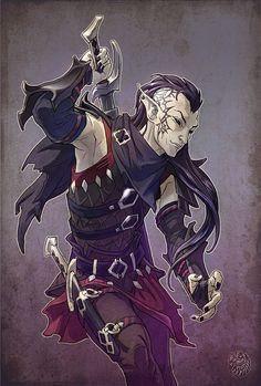 Black elf ninja by gugu-troll