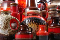'fat lava' ceramics....  made in west germany