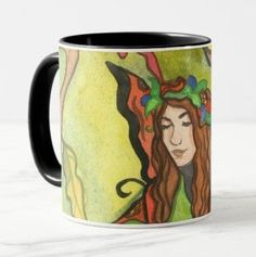 Autumn Fall, Autumn Leaves, Fairy Paintings, Golden Leaves, Teacup, Faeries, Drinkware, Fairytale, Fall Decor