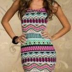 Keyhole Backless Geometric Pattern Beam Waist Packet Buttock Polyester Color Matching Dress