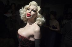 Model Amanda Lepore arrives before The Blonds 2015 collection show during New York Fashion Week in Manhattan, New York February 18, 2015. REUTERS/Carlo Allegri