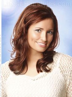 LOVE this one!!!!!!  Copper Brown Beauty Medium Wavy Style