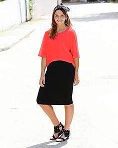 Neon And Black 2 N 1 Dress