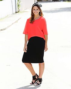 Neon And Black 2 N 1 Dress