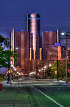 Beautiful photo of the Ren Cen downtown Detroit! Two of my brothers worked on the construction of the Ren Cen.
