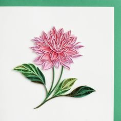 Pink Dahlia by Quilling Card