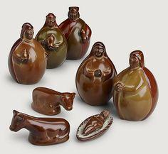 Andes Mountain Nativity Ceramic Peru (Round)