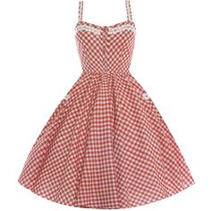 Corinna Burnt Orange Gingham ($29) ❤ liked on Polyvore featuring dresses, orange, summer dresses, burnt orange dress, orange dresses, red gingham dress and day summer dresses