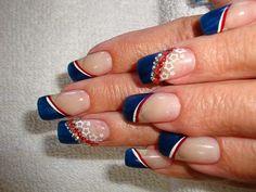 4th nails juli nail, nail art designs, 4th nail, nail arts, 4th of july, patriotic nails, nail design, nail idea, art nails