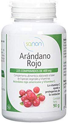 Sanon Arandano Rojo Americano Y Vitamina C 225 Comprimidos De 400