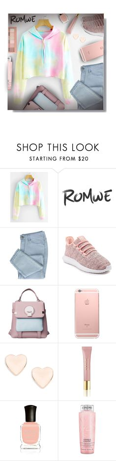 """""""Romwe - Contest!"""" by sarahguo ❤ liked on Polyvore featuring adidas, Ted Baker, AERIN, Maybelline, Deborah Lippmann and Lancôme"""