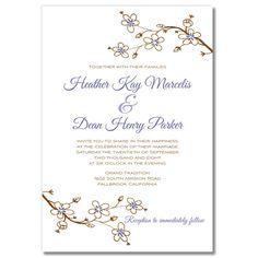 Cherry Blossom - Unique Wedding Invitation by The Green Kangaroo