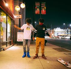 Swae Lee in the Nike Flystepper 2k3 and Slim Jimmy in the Air Jordan 6 Cigar