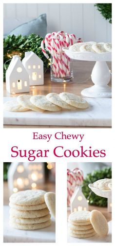 Easy Chewy Sugar Cookie Recipe