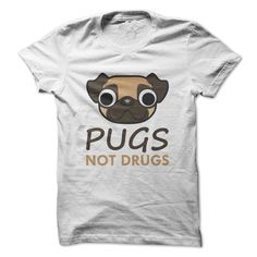 PUGS NOT DRUGS T-Shirt/Tees, Order HERE: https://www.sunfrog.com/Pets/PUGS-NOT-DRUGS-T-ShirtTees.html?id=41088#puglovers #christmasgifts #xmasgifts #ilovemypugs
