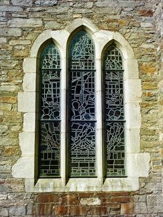 My photo of church window edited in Photoshop using gradients.