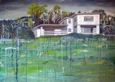 """Saatchi Online Artist Mathew Tucker; Painting, """"Overgrown Home"""" #art"""