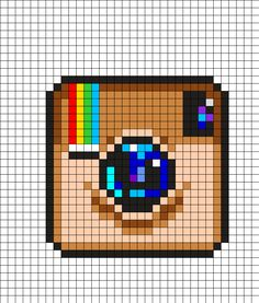 Discover recipes, home ideas, style inspiration and other ideas to try. Hama Beads Design, Diy Perler Beads, Perler Bead Art, Kandi Patterns, Perler Patterns, Beading Patterns, Graph Paper Drawings, Graph Paper Art, Cross Stitching