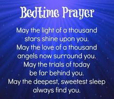 Bed time prayer - good night Have a beautiful and blessed night y'all. Thank you sweet Pamela. Prayer Verses, Bible Prayers, Faith Prayer, My Prayer, Kids Prayer, Prayer Board, Good Night Quotes, Good Morning Good Night, Prayer Before Sleep