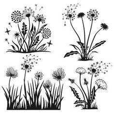 Dandelion Flower Spring Cuttable Design Cut File. Vector, Clipart, Digital…
