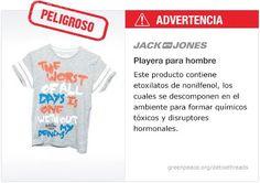 Jack & Jones Playera   #Detox #Fashion