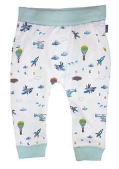 Ted Baker Baby Boys Trousers Jersey Bottoms Aiplanes Designer 12-18 Months